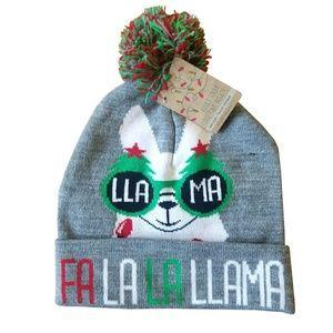 Gertex Accessories - Fa La La Llama Pom Pom Beanie